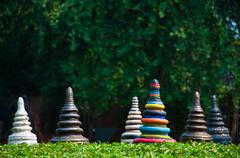 Stock Photo of the colorful pottery as modern design