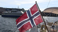 Norway - flag Stock Footage