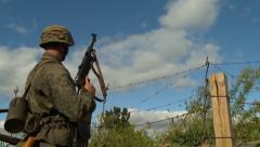 German gun malfunction 1 Stock Footage