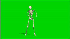 Stock Video Footage of skeleton dancing rapping - isolated green screen Footage clip 2