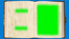 The mysterious book. (with page turn) - green screen Stock Footage