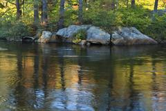 Moose River Reflections Stock Photos