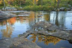 Still Pools on Moose River - stock photo