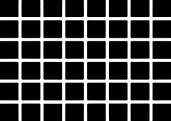 Stock Illustration of black squares illusion