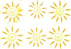 Stock Illustration of vector grunge sun