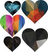 Triangles are hearts Stock Illustration