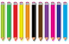 Stock Illustration of set of pencils