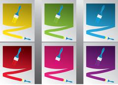 Stock Illustration of multicolored paint