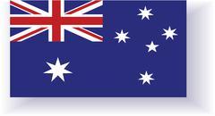 Stock Illustration of flag of australia