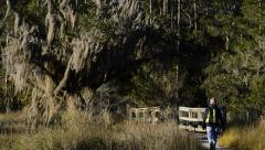 Skidaway Island State Park  and Live Oak - Savannah Stock Footage