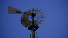Old Fashioned Wind Mill Pumping Water - Texas 1 - stock footage
