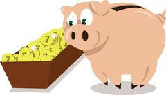 piggy bank - stock illustration