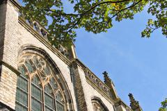 Stock Photo of grote kerk church, the main attraction of dordrecht
