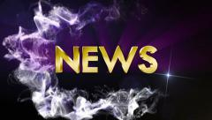 NEWS Gold Text in Particles, with Final White Transition Stock Footage
