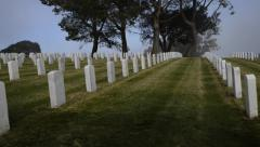 Fort Rosecrans National Cemetery - San Diego 2 Stock Footage