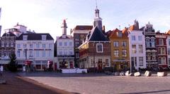 Vlissingen. Market Square. Stock Footage