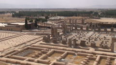 Persepolis overview, Iran Stock Footage