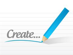 Stock Illustration of create message illustration