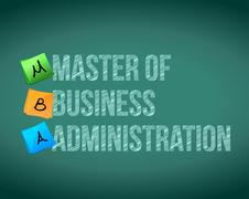 Stock Illustration of master of business administration message