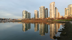 Morning Yaletown Reflection, Vancouver Stock Footage