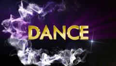 DANCE Gold Text in Particles, with Final White Transition Stock Footage