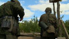 German reloads from trench 3 Stock Footage