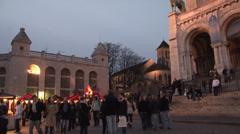 Paris - France - Evening - Basilique du Sacre-Coeur - Montmartre - HD Stock Footage