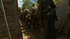German Paratroopers in muddy trench1 Stock Footage