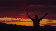 Champion sunset - Red Epic - stock footage