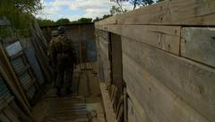 German Paratroopers in muddy trench2 Stock Footage