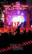 Music event illustration - stock illustration