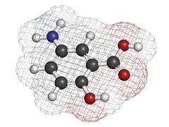 mesalazine (mesalamine, 5-aminosalicylic acid, 5-asa) inflammatory bowel dise - stock illustration