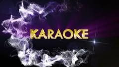 KARAOKE Gold Text in Particles, with Final White Transition Stock Footage