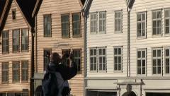 Wooden Norway houses Stock Footage