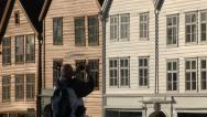Stock Video Footage of Wooden Norway houses