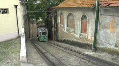The Elevador do Lavra, Lisbon Funicular, Lisbon, Portugal. Stock Footage