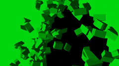 Different wall - surfaces holes - green screen Stock Footage