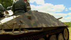 German tank and half track Stock Footage