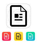 Publication file icon. - stock illustration