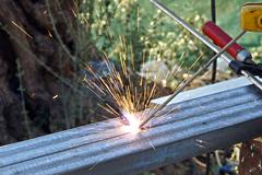 Sparks of Electric Welding Stock Photos