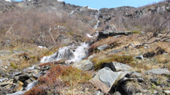 Mountain river in Northern Norway Stock Footage