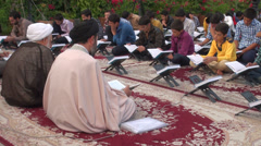 Stock Video Footage of Iran, clerics provide Quran lessons to students