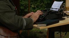 German typewriting 2 - stock footage