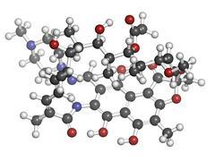 Stock Illustration of rifampicin (rifampin, rifamycin class) tuberculosis antibiotic, chemical stru