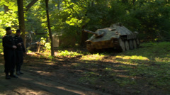 German Vehicles in Woods Stock Footage