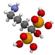 alendronic acid (alendronate, bisphosphonate class) osteoporosis drug, chemic - stock illustration