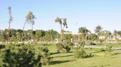 Amir Timur (Tamerlan) square in Tashkent, Uzbekistan Stock Footage