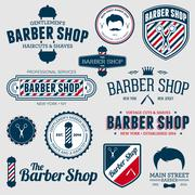 Barber shop graphics - stock illustration