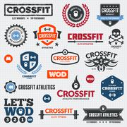 Crossfit graphics Stock Illustration
