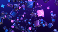 Abstract Cubes Flight Stock Footage